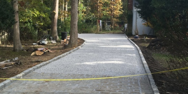 New Driveway Completed in East Hampton