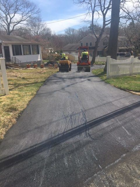 Paving New Driveway in Long Island - 2
